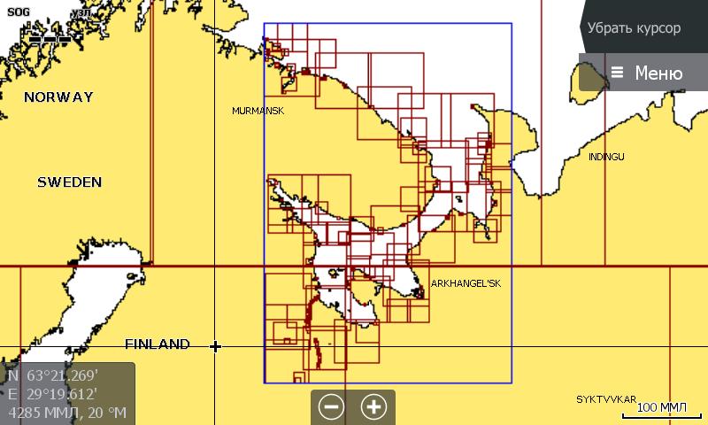 Navionics 5G874S Белое и Баренцево море карта покрытия
