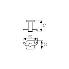 Крючок двойной KAISER Vera BR KH-4702 схема