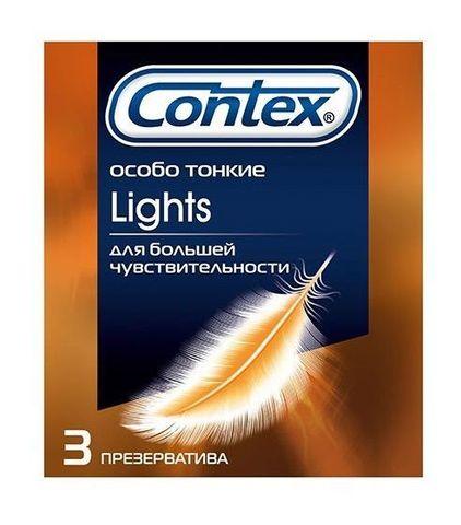 Особо тонкие презервативы Contex Lights - 3 шт.