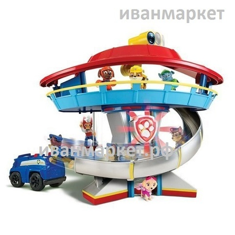 Офис-База щенков спасателей с машиной и щенком