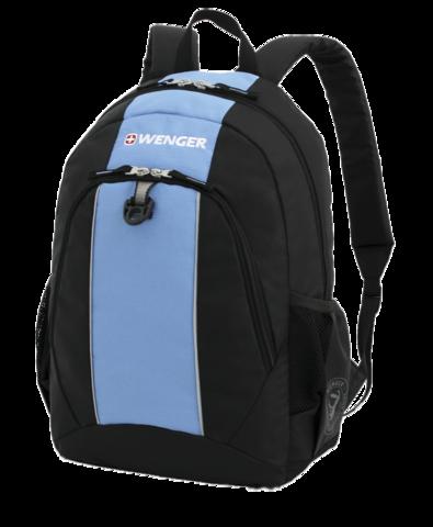 Рюкзак WENGER, цвет чёрный/голубой, 22 л., 45х32х14 см., 2 отделения (17222315)