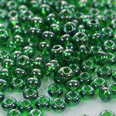 56120 Бисер 5/0 Preciosa прозрачный блестящий зеленый
