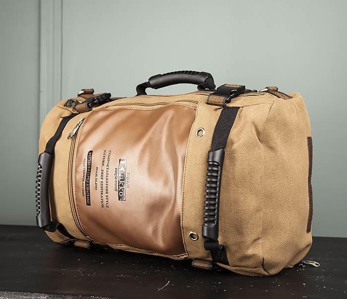 BAG365-2 Рюкзак-трансформер из плотного текстиля фото 05