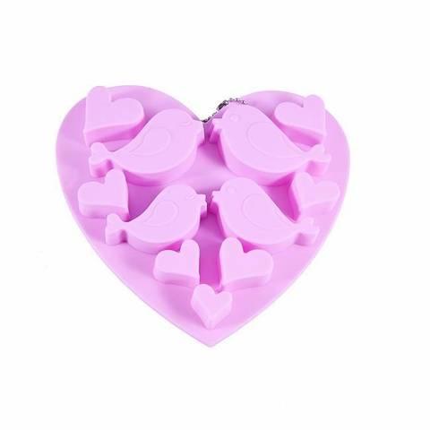 """6546 FISSMAN Форма для льда и шоколада """"Птицы и сердечки"""" 15x4,5x1,5 см,  купить"""