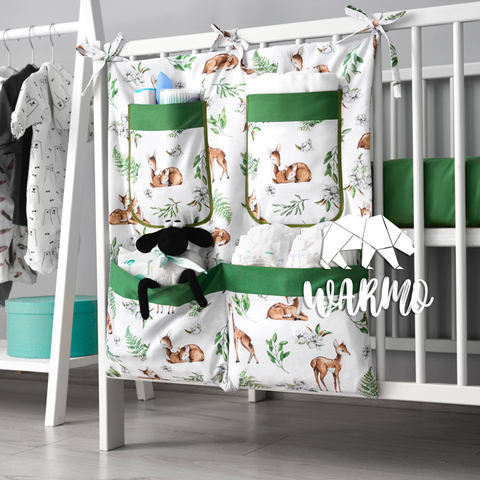 органайзер на ліжечко з зеленими оленями фото