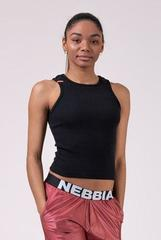 Топ NEBBIA Labels crop top 516 BLACK