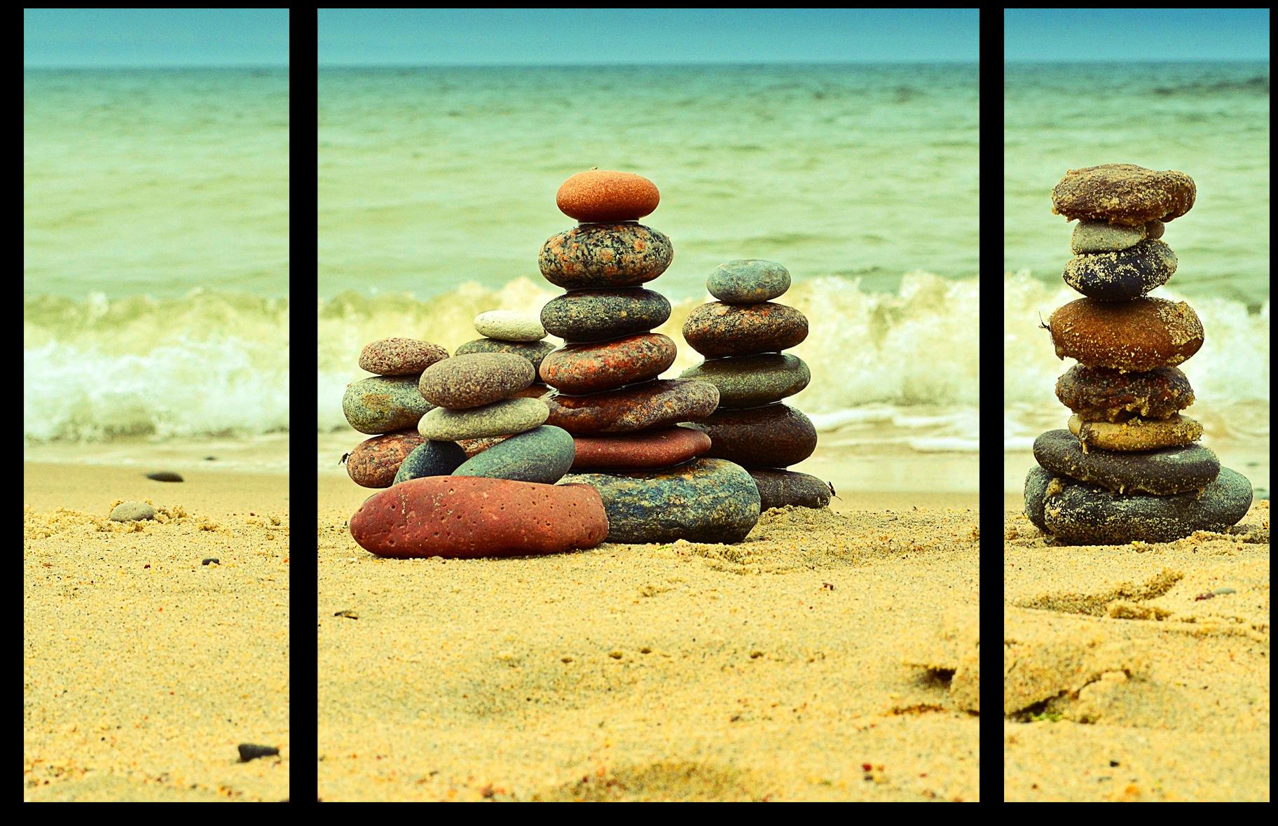 Природа Модульная картина ''Пирамидки из камней'' М214.png
