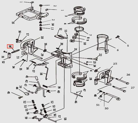 Винт зажима струбцины для лодочного мотора T9.8 Sea-PRO (11-30)