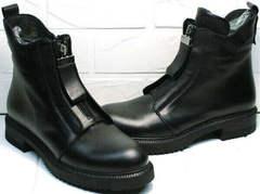 Стильные черные ботинки на осень Tina Shoes 292-01 Black.