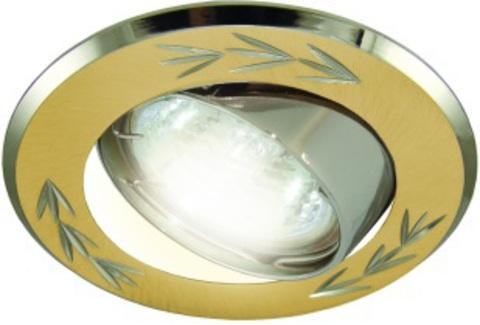 Светильник встраиваемый поворотный СВ 02-01 MR16 50Вт G5.3 матовое золото/никель TDM