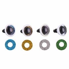 Глазки для мягкой игрушки с блестками
