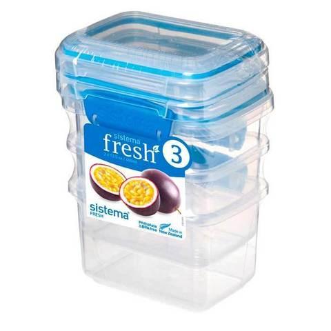 """Набор пищевых контейнеров Sistema """"Fresh"""" 400мл, 3шт."""
