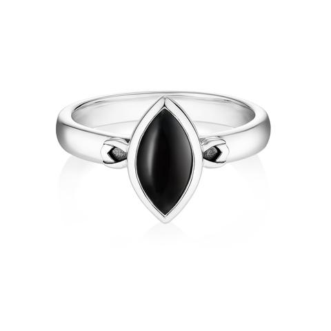 Кольцо PETALA - Черный оникс