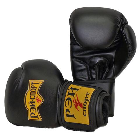 Перчатки боксерские ХУК чёрные