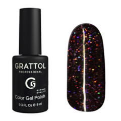 Гель-лак Grattol Color Gel Polish LS Diamond 04, черный диамант, 9 мл