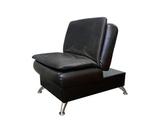 Пуф-кресло Сити в положении кресло, опоры лапа хром