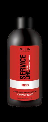 OLLIN SERVICE LINE Флюид-препигментатор красный 90мл/ Red Fluid-Pre-Color