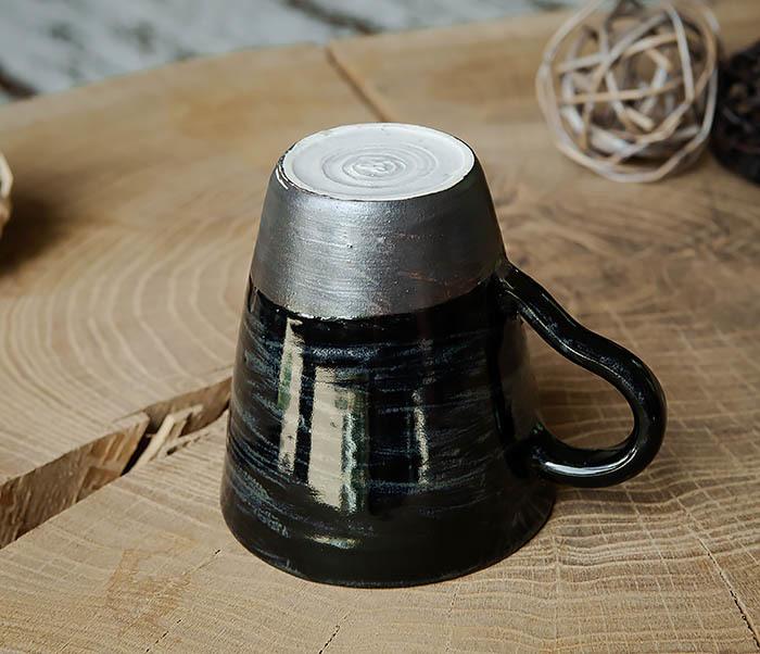 CUP104-1 Большая керамическая кружка в глазури, ручная работа (300 мл) фото 03