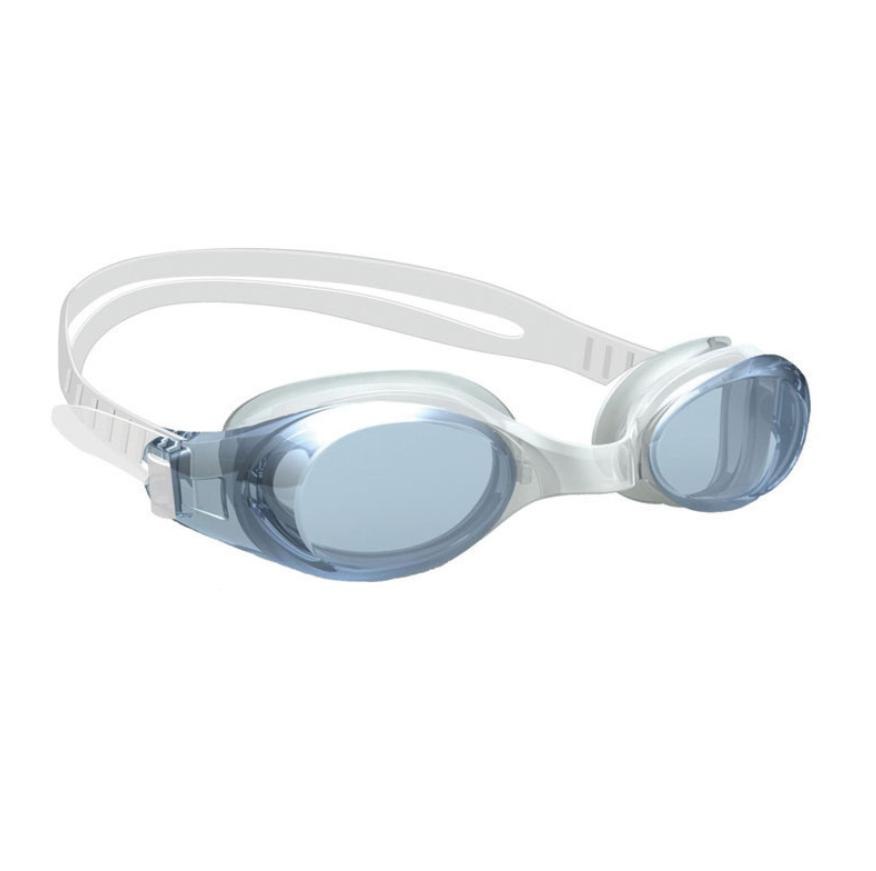Junior Swimming Goggle, w/ Antifog lens, Silicone eyecups & strap, transparent black