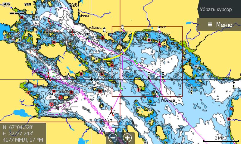 Navionics 5G874S Белое и Баренцево море Кандалакшский залив