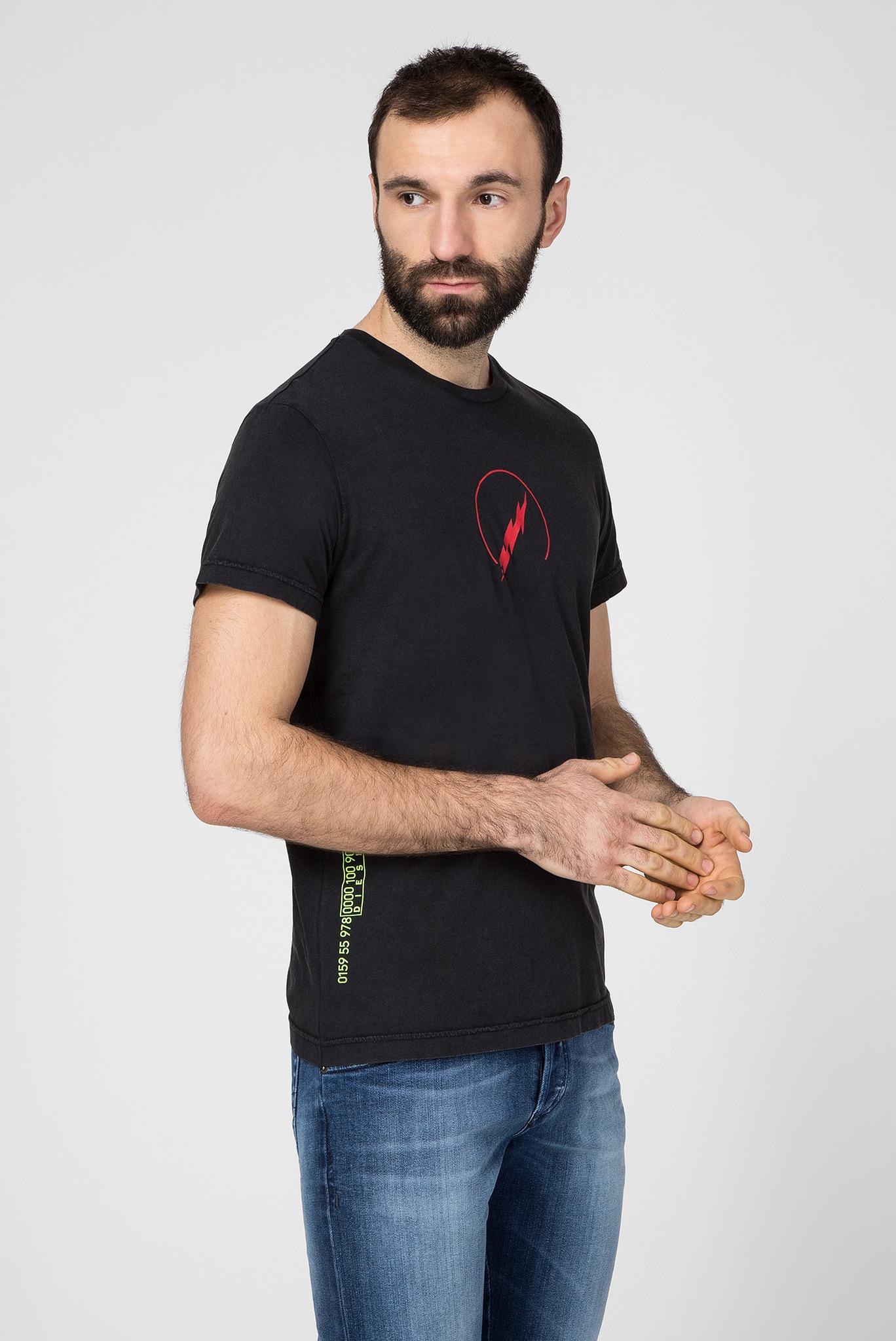 Мужская черная футболка T-DIEGO-J5 Diesel