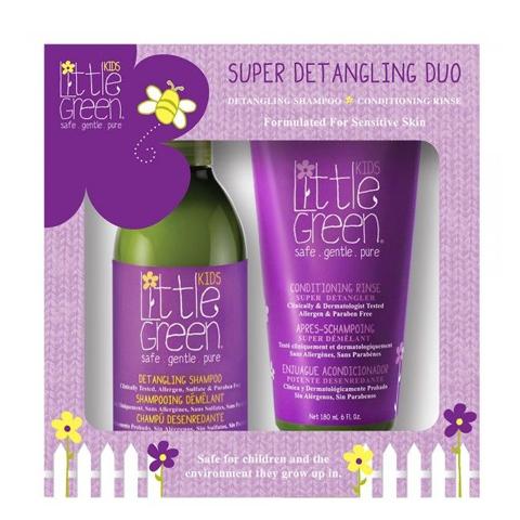 Little Green Kids: Набор для облегчения расчесывания и распутывания волос (Super Detangling Duo), 240мл+ 180мл