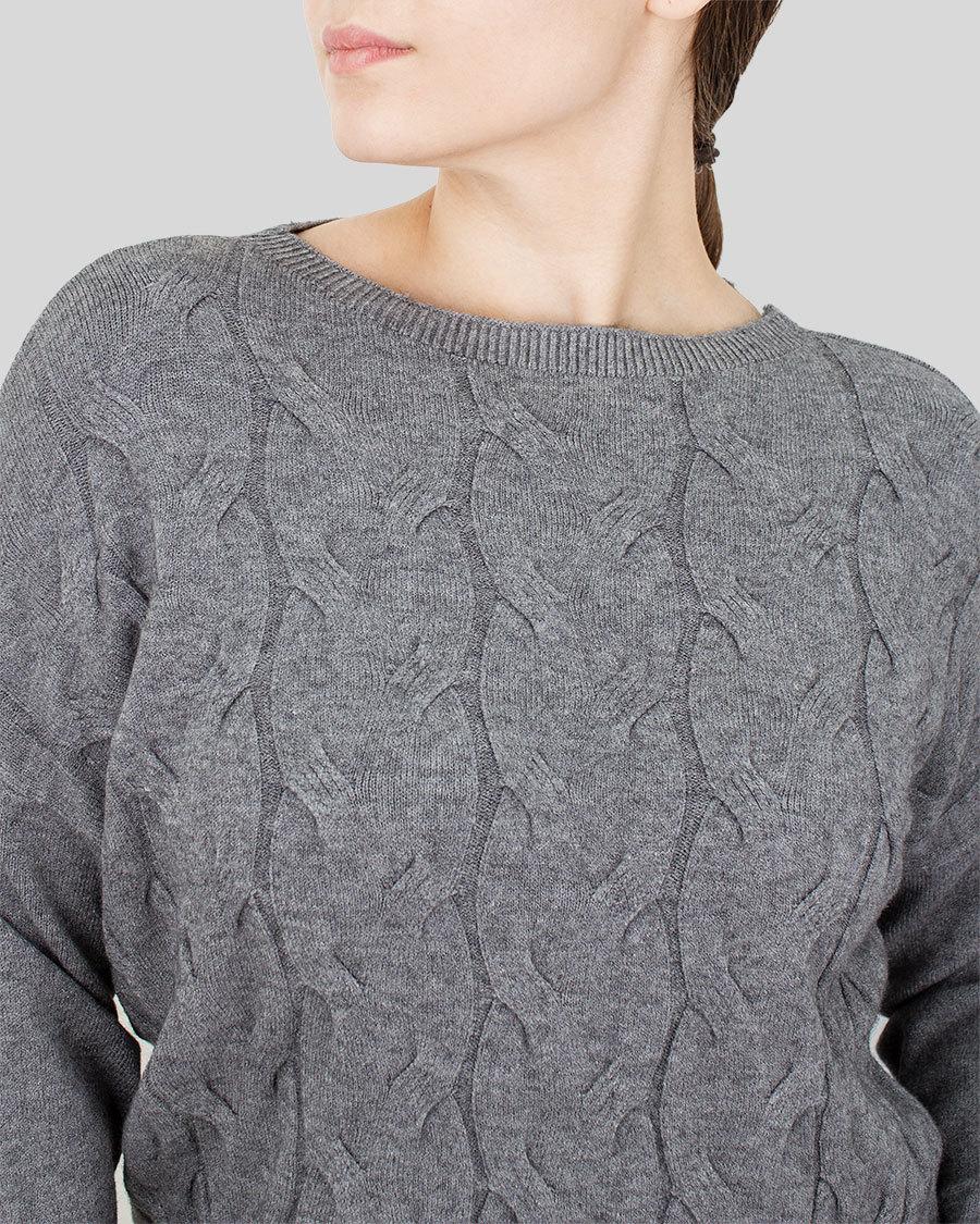 Кофта женская вязка косичка