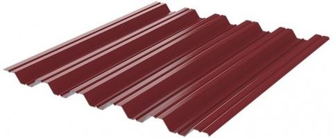 Профнастил НC35x1060 мм RAL 3005 красное вино