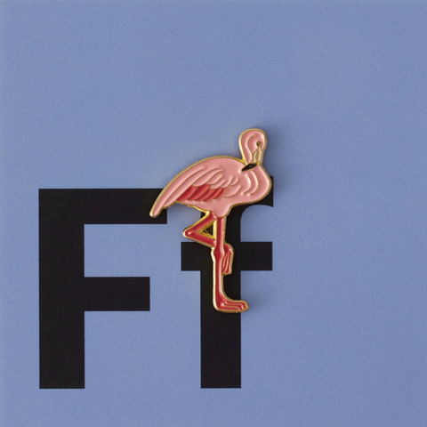 Значок металлический Зоопарк: Фламинго