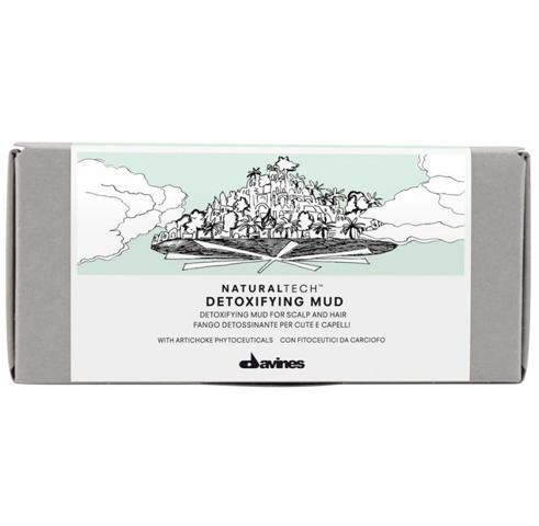 Davines NaturalTech Detoxifying: Детоксирующая глубоко очищающая грязь для волос (Detoxifying Mud), 6*50мл