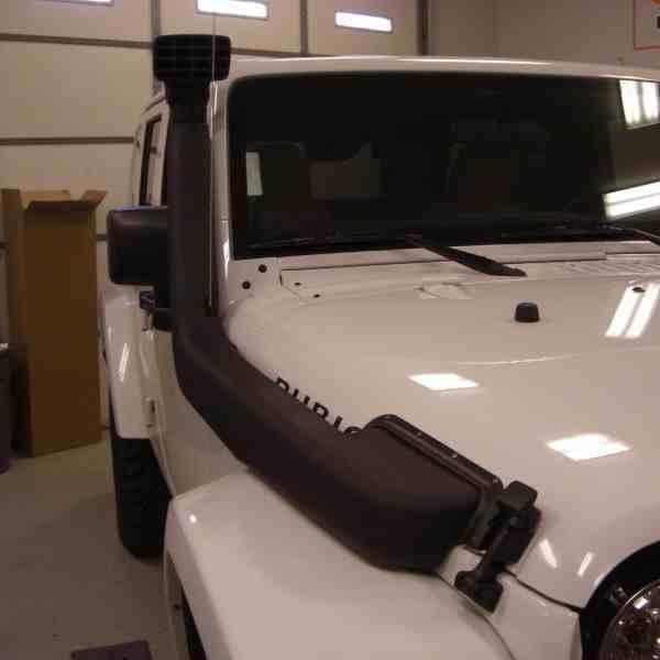 Установка шноркеля на Jeep Wrangler