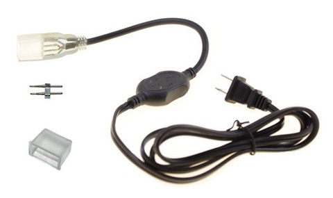 Вилка сетевая переходник для подкючения дюралйт ленты шланга LED rope light шнур сетевой контроллер переходники коннектора для плоской трубки шланга