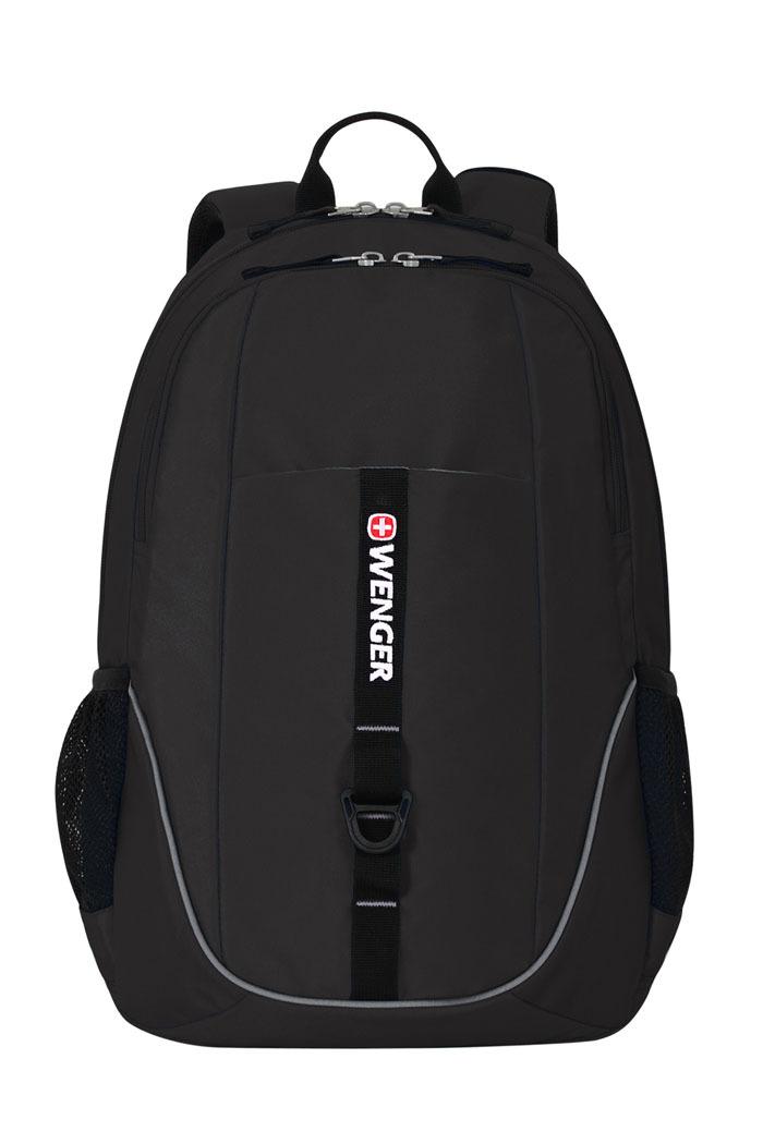 Рюкзак WENGER со светоотражающими элементами, цвет чёрный, 26 л., 46х33х16,5 см., 2 отделения (6639202408)