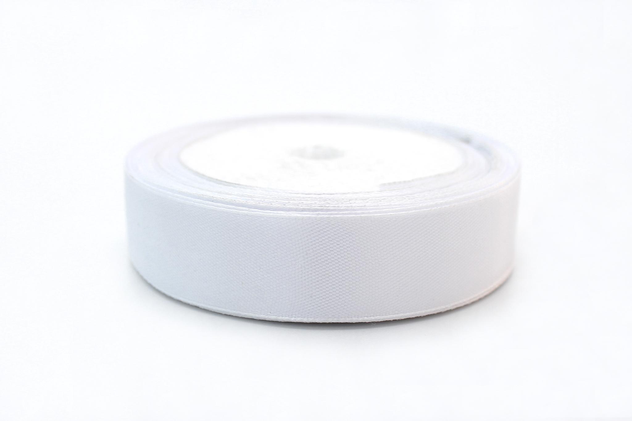 Лента белая атласная,2см(метражом)