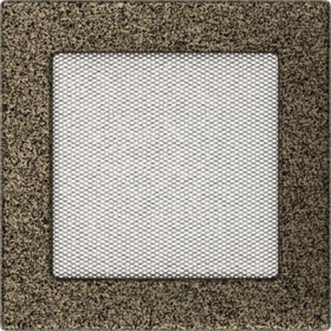 Вентиляционная решетка Черная/Золото (17*17) 17CZ