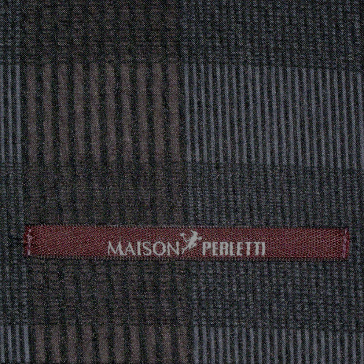 Зонт складной Maison Perletti 16216-gray-Scottish crook
