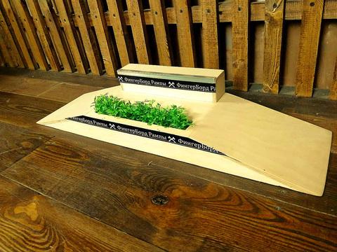 Фигура для фингерборда Фанбокс grass + бокс
