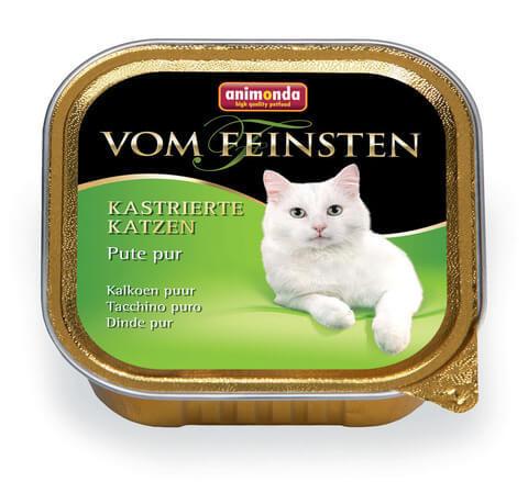 Консервы с отборной индейкой для кастрированных кошек Animonda Vom Feinsten For Castrated Cats - Pure Turkey