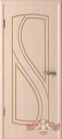 Дверь 10ДГ5 (беленый дуб, глухая шпонированная), фабрика Владимирская фабрика дверей