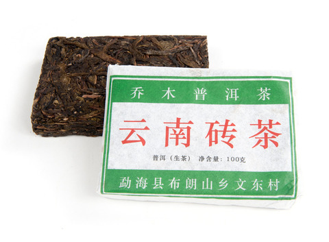 Шен Пуэр Старые деревья из Буланьшань / кирпич 100 г, фаб. Син Бан Чжан, 2013 г.
