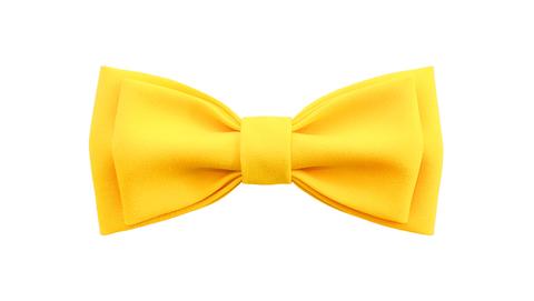 Однотонный галстук - бабочка (желтый)