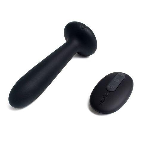 Чёрный анальный вибростимулятор Primo с функцией нагрева - 12 см.