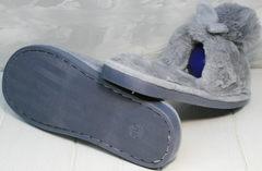 Домашние тапочки зайчики женские Yes Mile A-08 Gray