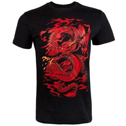 Футболка Venum Dragon's Flight T-shirt - Black/Red