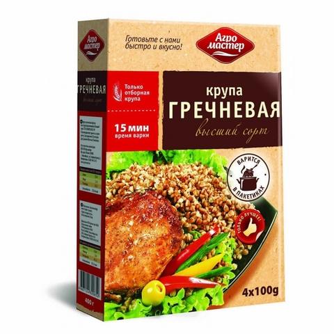 Гречневая крупа АГРОМАСТЕР 400 гр пак РОССИЯ