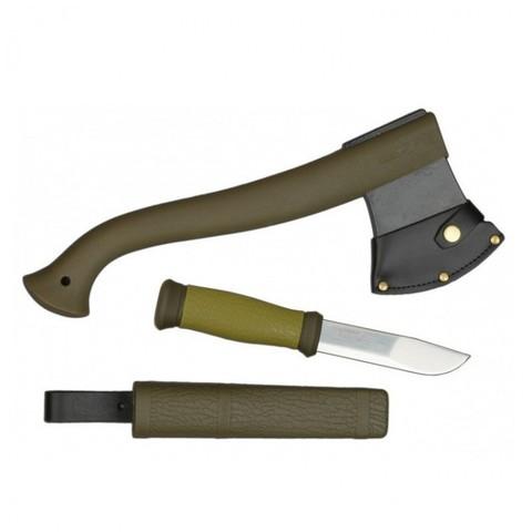 Туристический набор Morakniv Outdoor Kit MG, нож Mora 2000 + топор (зеленый)