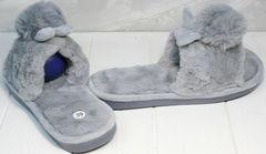 Уютные домашние тапочки женские Yes Mile A-08 Gray