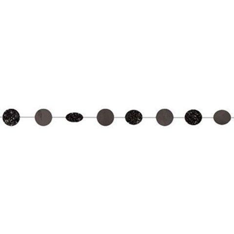 Гирлянда Круги Black блеск 2,1м 6шт
