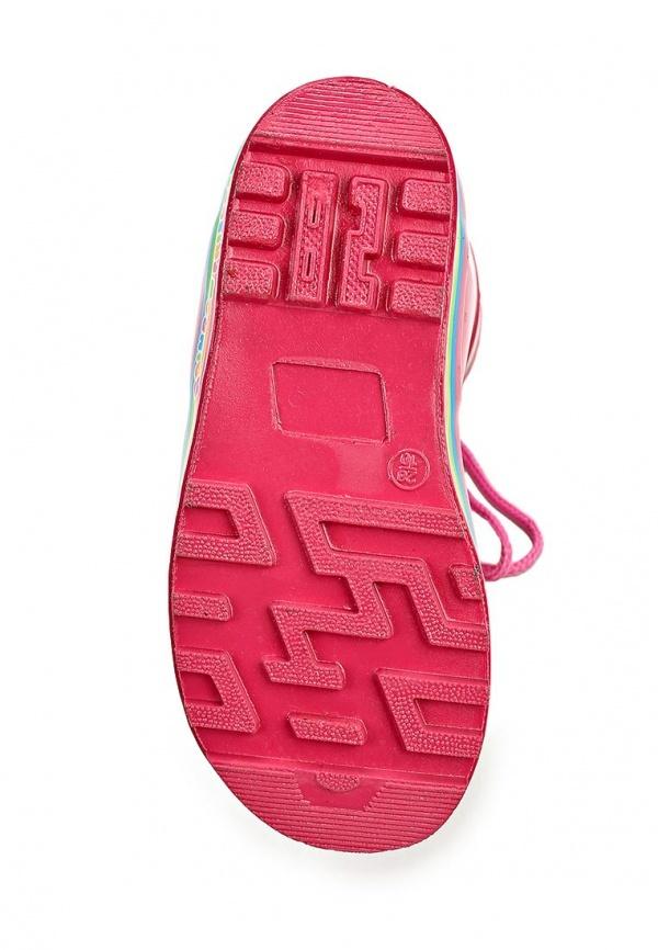 Резиновые сапоги Пони (My little Pony) утепленные на шнурках для девочек, цвет розовый