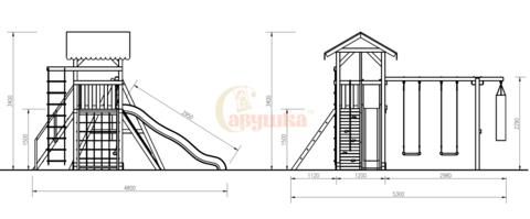 Детская деревянная площадка Савушка - 4